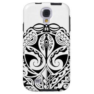 Polynesian mask tattoo design galaxy s4 case