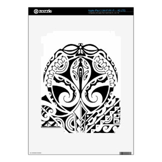 Polynesian mask tattoo design skin for iPad 3