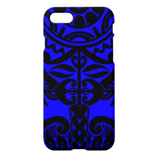 Polynesian mask tattoo with mandala sun pattern iPhone 8/7 case