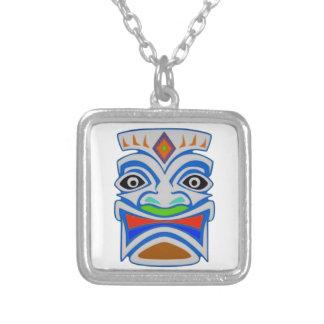 Polynesian Mythology Silver Plated Necklace