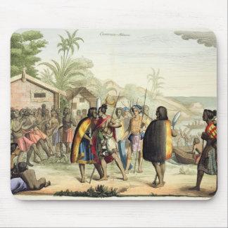 Polynesian Natives Greeting and Rubbing Noses, eng Mouse Pad