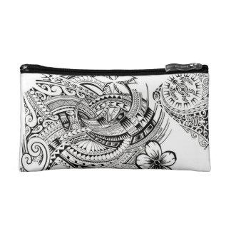 Polynesian Pattern Makeup Bag