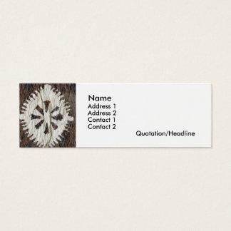 Polynesian Profile Mini Business Card