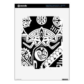 "Polynesian tattoo skin ""The Rock"" tattoo design Skins For iPad 3"