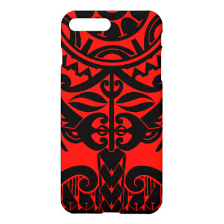 Polynesian tiki face tattoo mandala sun design iPhone 8 plus/7 plus case