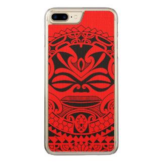Polynesian tiki mask design carved iPhone 8 plus/7 plus case