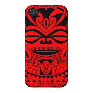 Polynesian tiki mask design case for iPhone 4