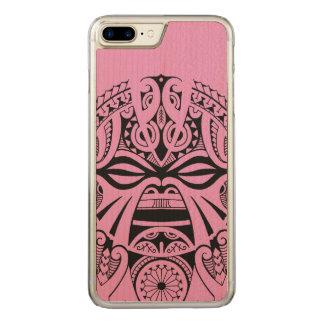 Polynesian tiki mask tattoo totem face carved iPhone 8 plus/7 plus case