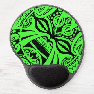 Polynesian tiki mask tattoo totem face gel mouse pad