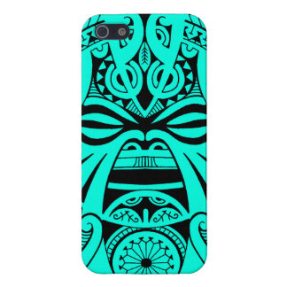 Polynesian tiki mask tattoo totem face iPhone SE/5/5s cover