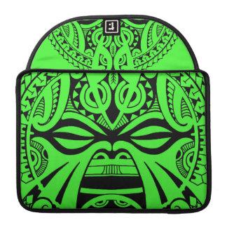 Polynesian tiki mask tattoo totem face MacBook pro sleeve