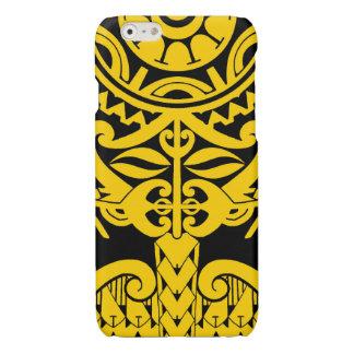 Polynesian tiki tattoo mandala design glossy iPhone 6 case