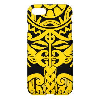 Polynesian tiki tattoo mandala design iPhone 8/7 case
