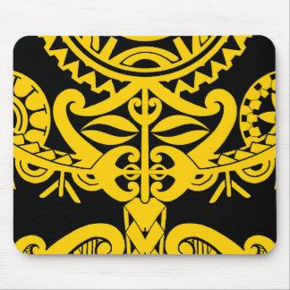 Polynesian tiki tattoo mandala design mouse pad