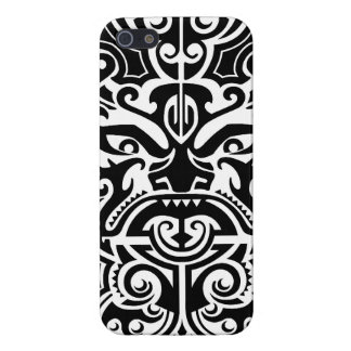 Polynesian Tribal Face 2 Cover For iPhone SE/5/5s