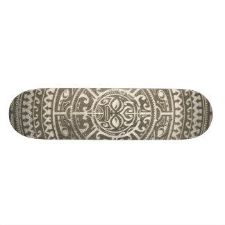Polynesian Tribal Face Brown Custom Skateboard