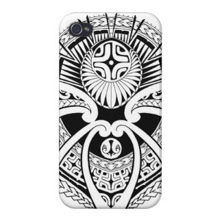 Polynesian tribal mixed tattoo design iPhone 4/4S covers