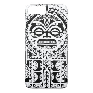 Polynesian tribal tattoo design with tiki mask iPhone 8 plus/7 plus case
