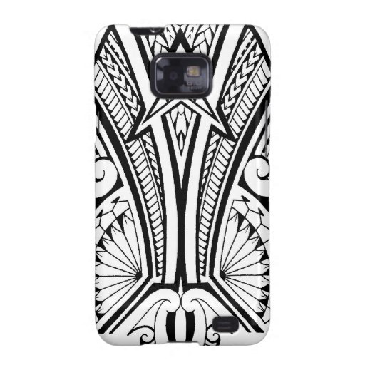 Polynesian tribal tattoo with bold patterns galaxy SII covers