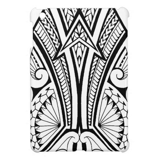 polynesian tribal tattoo with bold patterns ipad mini case zazzle. Black Bedroom Furniture Sets. Home Design Ideas