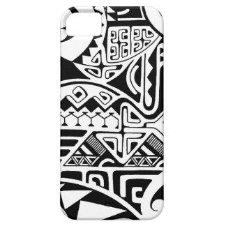 Polynesian tribal the rock tattoo design iphone 5 cover