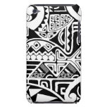 """Polynesian tribal """"The Rock"""" tattoo design Barely There iPod Case"""