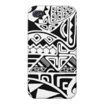 "Polynesian tribal ""The Rock"" tattoo design Cover For iPhone 4"