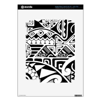 "Polynesian tribal ""The Rock"" tattoo design Skins For iPad 3"