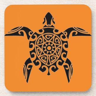 Polynesian Tribal Turtle designed Coasters