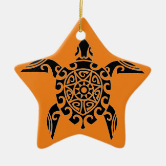Polynesian Tribal Turtle designed Ornament