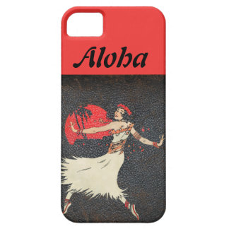 Polynesian Vintage Hula Dancer Distressed Leather iPhone SE/5/5s Case
