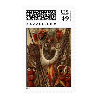 Polynesian Weapons and Costume Postage
