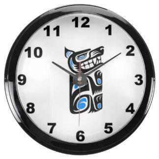 """""""Polynesian Wolf Tattoo"""" design wall clock Aquavista Clocks"""