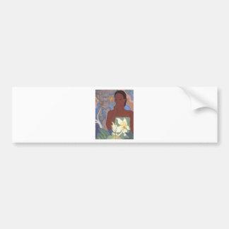 Polynesian Woman and Tiki by Arman Manookian 1929 Bumper Sticker