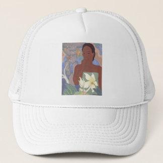 'Polynesian Woman and Tiki' - Hat