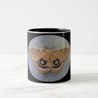 Polyphemus Moth Two-Tone Mug/Black Two-Tone Coffee Mug
