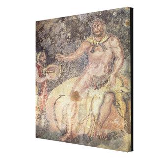 Polyphemus the Cyclops, Roman mosaic Canvas Print