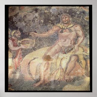 Polyphemus the Cyclops, Roman mosaic Poster