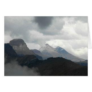 POLYPHONIC RIDGELINES: Glacier National Park Card