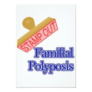 """Polyposis familiar invitación 5"""" x 7"""""""