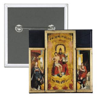 Polyptych de la glorificación del santo pin cuadrada 5 cm