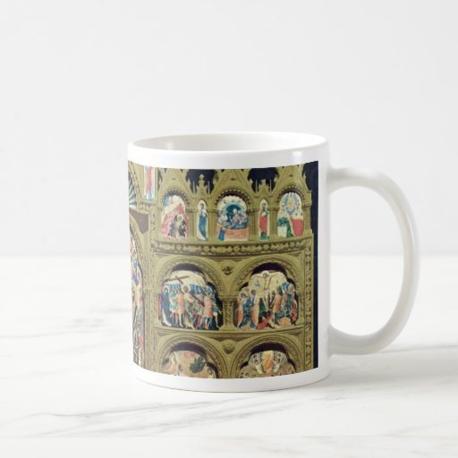 Polyptych With The Coronation Of The Virgin Overvi Classic White Coffee Mug
