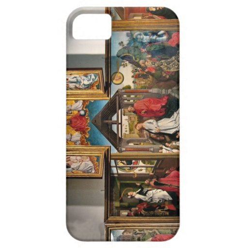 Polyptych with the Nativity by Rogier van Weyden iPhone 5 Covers