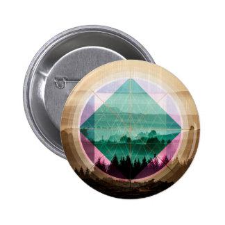 Polyscape landscape art 2 inch round button