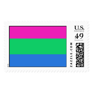 POLYSEXUAL PRIDE FLAG STAMPS