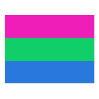 Polysexual Pride Flag Postcard