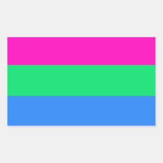 Polysexual pride flag rectangular sticker