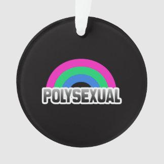 Polysexual Pride Ornament