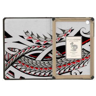 polytat tribal tatau spearhead red warrior symbols iPad mini cases