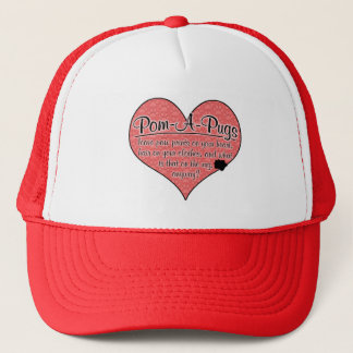 Pom-A-Pug Paw Prints Dog Humor Trucker Hat